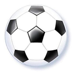 Folieballon bubbles Voetbal