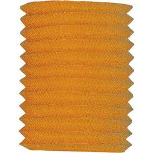 Papieren Treklampion Oranje met kaarsenhouder