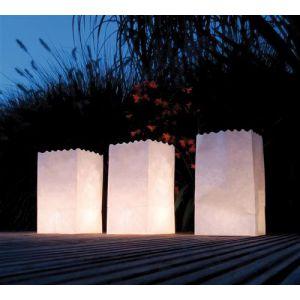 Papieren Lichtzakjes Blanco
