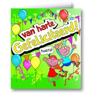 Wenskaart Van Harte Gefeliciteerd