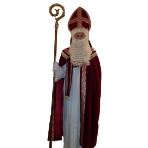 Sinterklaas mantel deluxe bordeaux rood