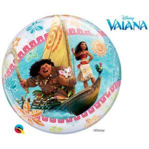 Gevulde Folieballon bubbles Vaiana