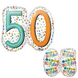 Folieballon 50 jaar SuperShape