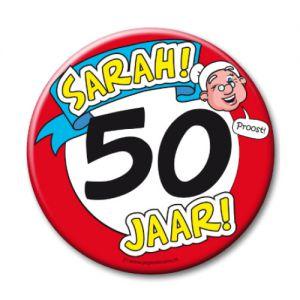 Button XL 50 jaar Sarah