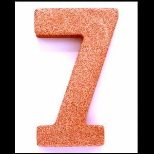 Tafeldecoratie Cijfer 7 glitter Roze Goud