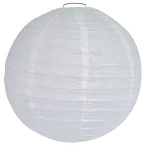 Ballon Lampion Wit 50 cm.