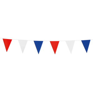Mini vlaggenlijn Rood / Wit / Blauw