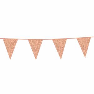 Vlaggenlijn Glitter Roze Goud