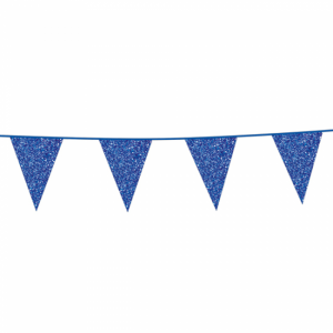 Vlaggenlijn Glitter Baby Blauw