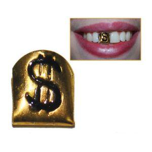 Gouden tand met Dollarteken