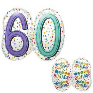 Gevulde Folieballon 60 jaar SuperShape