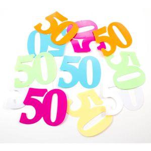 XL Tafeldeco / sierconfetti 50 jaar