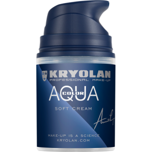 Kryolan Aquacolor Softcream zwart 071 zwart 50 ml
