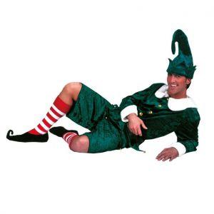 Elf kostuum volwassenen Holly Jolly