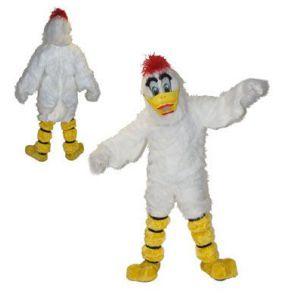 Mascotte Witte Eend Kostuum