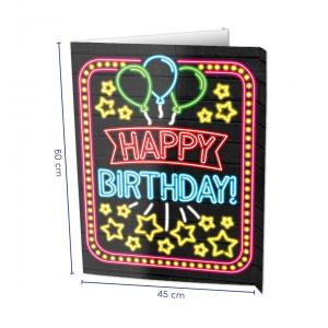 Raambord Happy Birthday Neon
