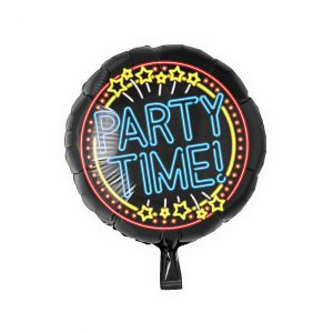 Folieballon Neon Party Time