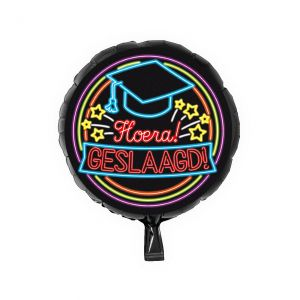 Folieballon Neon Geslaagd