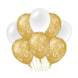 Decoratie ballonnen Goud/Parelmoer 80 jaar