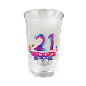 Happy Shot Glaasjes 21 jaar