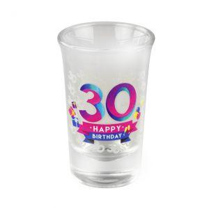 Happy Shot Glaasjes 30 jaar