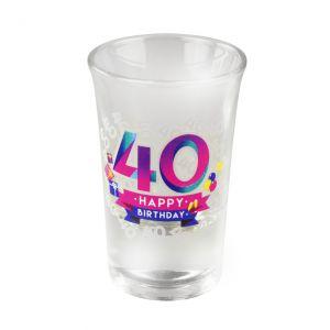 Happy Shot Glaasjes 40 jaar