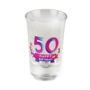 Happy Shot Glaasjes 50 jaar