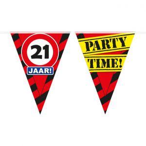 Party Vlaggenlijn 21 jaar