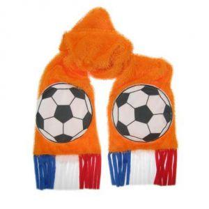 Oranje Sjaal met voetbal