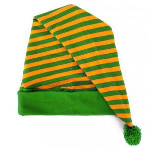 Slaapmuts gestreept oranje/groen
