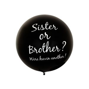 Reuze Ballon Sister or Brother 80 cm