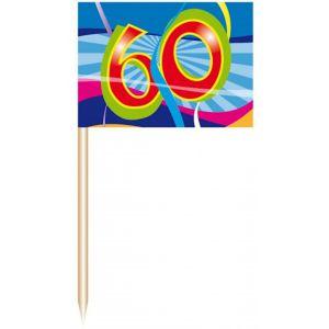 Party Prikkers 60 jaar (50 stuks)