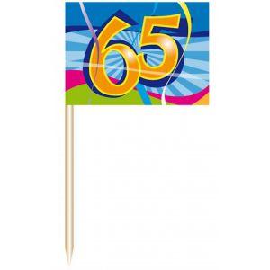 Party Prikkers 65 jaar (50 stuks)