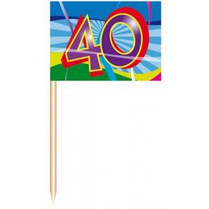 Party Prikkers 40 jaar (50 stuks)