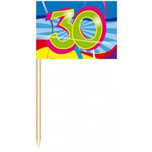 Party Prikkers 30 jaar (50 stuks)