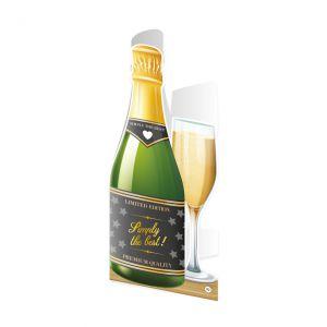 Champagne Wenskaart 91 jaar