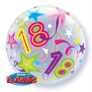 Folieballon bubbles 18 jaar