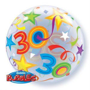 Folieballon bubbles 30 jaar