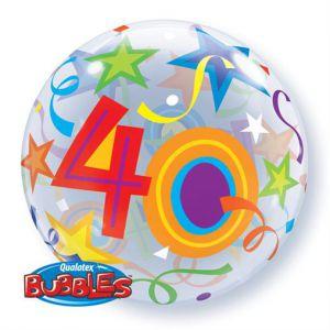 Folieballon bubbles 40 jaar