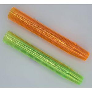 Shot Glaasjes Plastic Oranje en Groen (2x50 Stuks)
