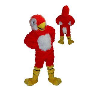 Mascotte Rode Papagaai Kostuum
