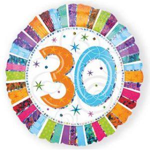 Folieballon Radiant 30 jaar