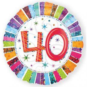 Folieballon Radiant 40 jaar