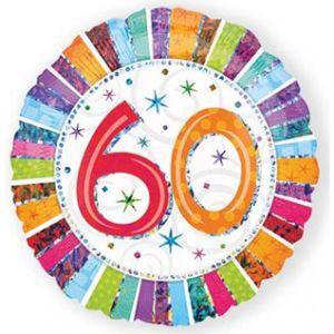 Folieballon Radiant 60 jaar