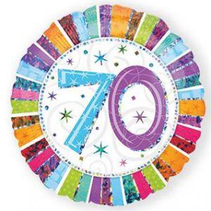 Folieballon Radiant 70 jaar