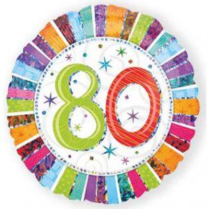 Folieballon Radiant 80 jaar