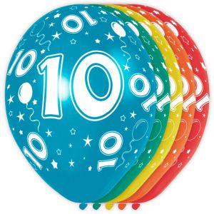 (j) Ballonnen 10 Jaar (12 stuks)