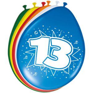 Lucht Latex Ballonnen 13 Jaar (8 stuks)