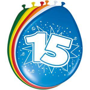 Lucht Latex Ballonnen 15 Jaar (8 stuks)