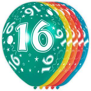 (k) Ballonnen 18 Jaar (12 stuks)